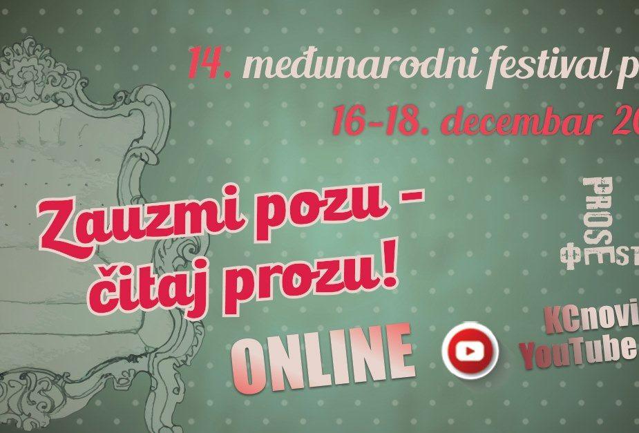 Festival proze Prosefest na Jutjub kanalu Kulturnog centra Novog Sada